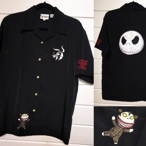 RARE Disney Jack Skellington Nightmare Bowler Sz S